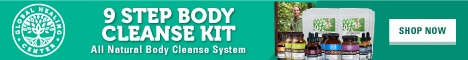 The 9 Step Body Cleanse Kit from Global Healing Center includes everything you need to thoroughly detoxify your body and take control of your health.