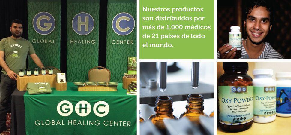Los productos de Global Healing Center son distribuidos por más de 1000 médicos en 21 países alrededor del mundo.