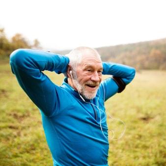 Older Male exercising