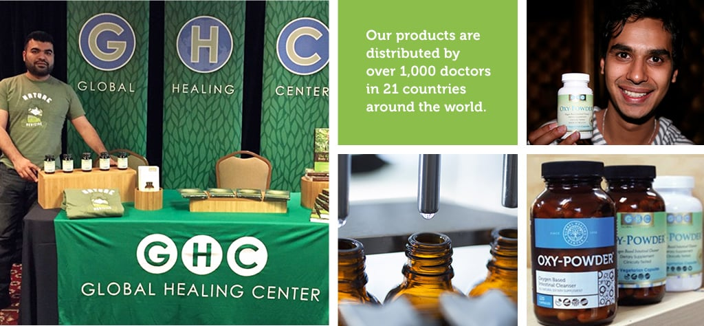 Global Healing Center products are distributed by over 1000 doctors