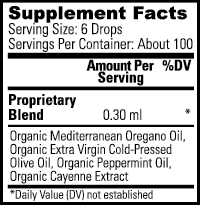oregano oil label
