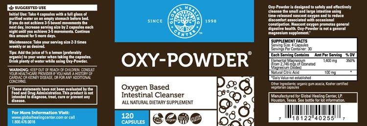 oxy-powder label