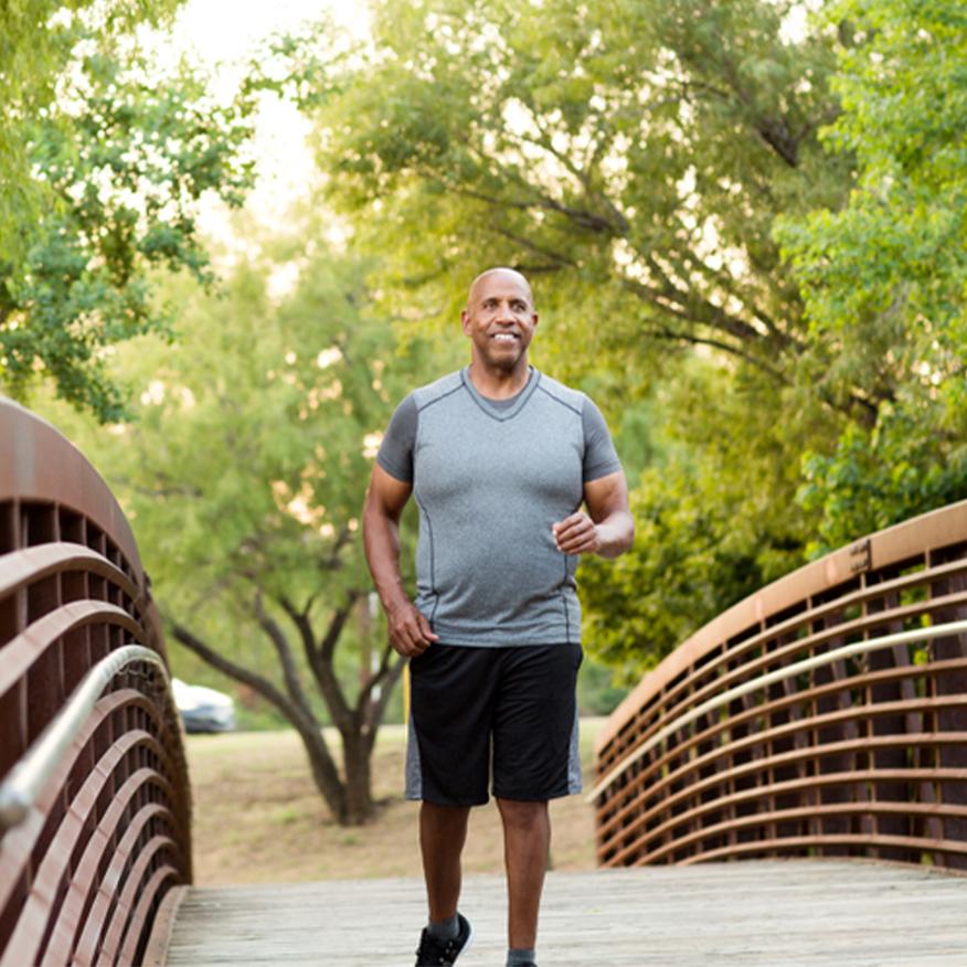 Beat Fatigue – Man jogging on a bridge