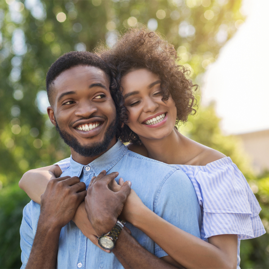 Enables Hormone Balance – Young couple in an embrace outdoors