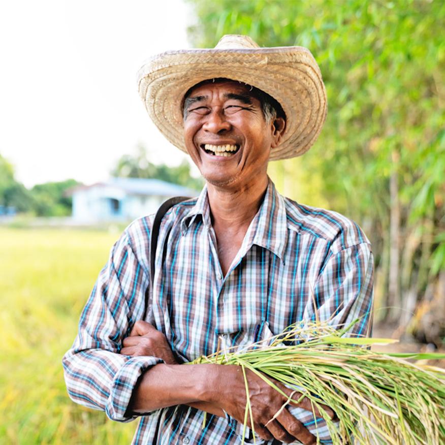 Most Effective Form of Iodine – Man joyfully smiling on a farm