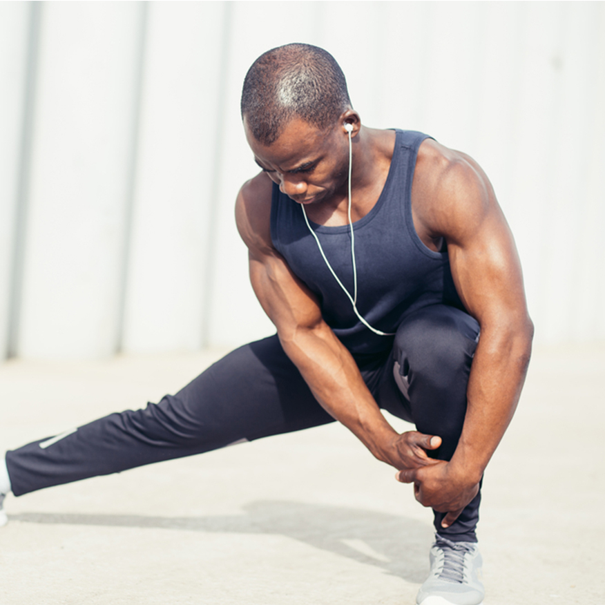 Great for Athletes – Man stretching before run