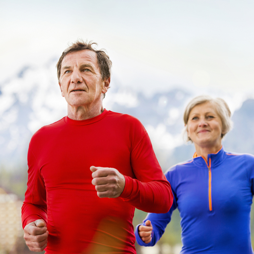 Stay Energized – Senior couple jogging