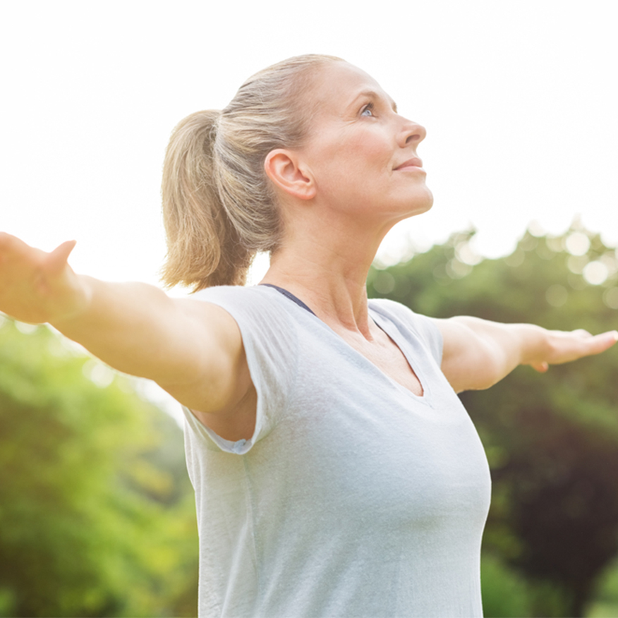 Up Your Metabolism – Woman with her arms stretched out to the sides