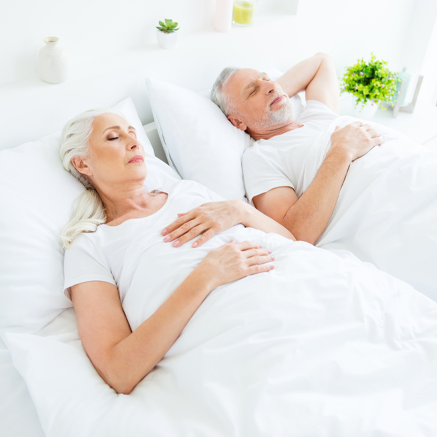 Encourages Restful Sleep – Couple restfully sleeping