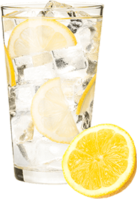A glass of lemon water is a great addition to oxy-powder.