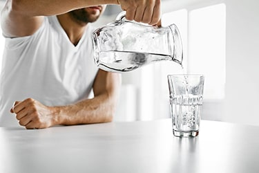 Drink plenty of purified water after consuming oxy-powder to keep your body hydrated.