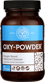 A small bottle of oxy-powder.